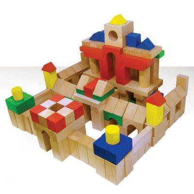 Bộ xếp hình bằng gỗ an toàn cho bé